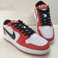 nike air jordan i unisex casual fashion multicolor low help plate shoes basketball shoes couple sneakers-1