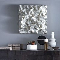 Capiz Wall Art - Faceted Square