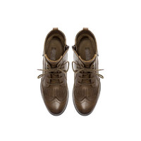 LEATHER ANKLE BOOT WITH BROGUEING AND LACES - Shoes - Girl (2 - 14 years) - Kids | ZARA United States