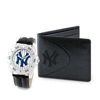 New York Yankees MLB Men's Watch & Wallet Set
