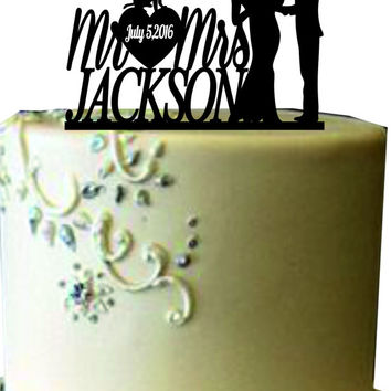 Family Wedding Cake Topper With dog and little boy , Unique Wedding Cake Topper,Funny Wedding Cake Topper, Rustic Custom Wedding Cake Topper