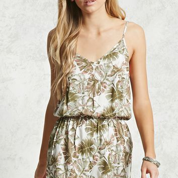 Palm Leaf Printed Romper