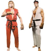Free shipping  Street Fighter game Ken Ryu cosplay costume Halloween party costumes for man adult 080307