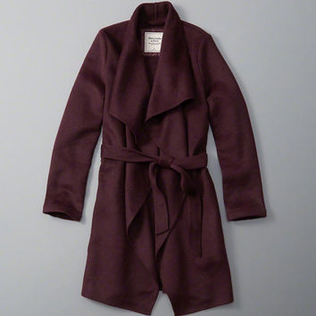 Womens Wool-Blend Wrap Jacket | Womens Outerwear & Jackets | Abercrombie.com