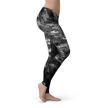 Liquid Abstract Paint V52 - All Over Print Womens Leggings / Yoga or Workout Pants