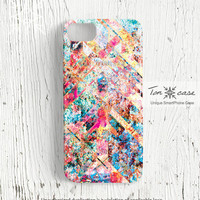 Colorful iPhone 5 case - iPhone 4 case, iPhone 4s case, High quality 3D printing, vivid, vibrant - colorful texture with cross (c23)