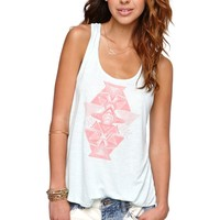 Volcom Drifter Back Jab Tank - Womens Tee - Blue - Extra Large