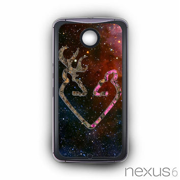 Browning Style Heart Buck Doe Deer Sticker Decal Duck Hunting for Nexus 6 phonecases