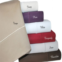 Cotton 1500 Thread Count Solid Sheet Sets
