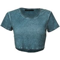 Crafted Cropped Rib T-Shirt