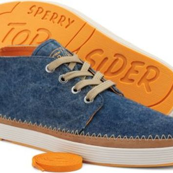 Sperry Top-Sider Cloud Logo Drifter Chukka Boot WashedNavyCanvas, Size 7M  Men's Shoes