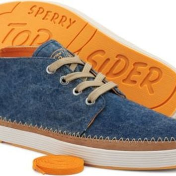 Sperry Top-Sider Cloud Logo Drifter Chukka Boot WashedNavyCanvas, Size 8.5M  Men's Shoes