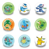 Hot 18pcs/lot cartoon Pins Buttons Badges Round Badges fashion Bags parts accessories Party children Kids Gifts