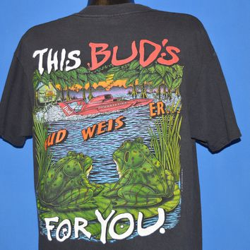 90s Budweiser Frogs This Bud's For You t-shirt Large