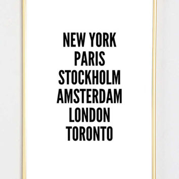 new york cities fashion bedroom quote typographic print quote print inspirational motivational tumblr room decor framed quotes teen boho