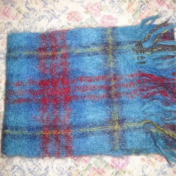 Womens Vintage Made in Western Germany Mohair Woven Winter Scarf