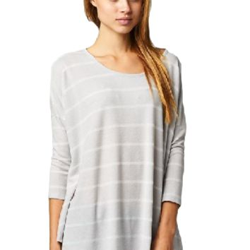 Earn Your Stripes Top - Grey