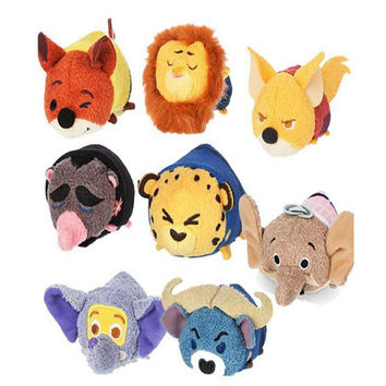 Tsum Tsum Mini 10cm Plush doll Toys Screen Cleaner Zootopia Judy Hopps Nick Wilde Chief Bogo Mr. Big juguetes doll kids Toys