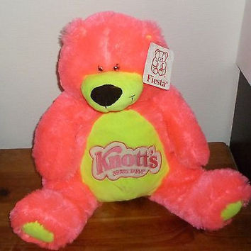Giant Pink Knott's Berry Farm California Teddy Bear Plush Animal