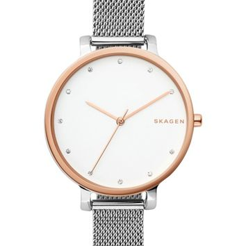 Skagen Hagen Mesh Strap Watch, 34mm | Nordstrom