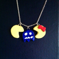 Pac Man, Mrs. Pacman, & Ghost Necklace
