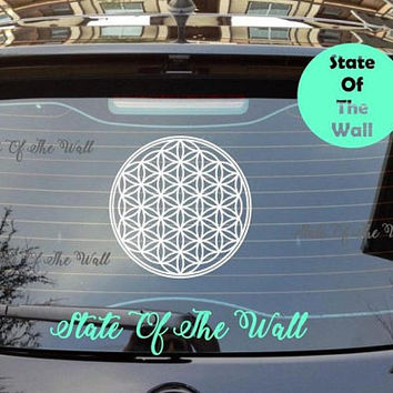 Flower Of Life Car Decal Sticker Art Decor Bedroom Design Mural interior design Buddha sacred geometry mandala flower