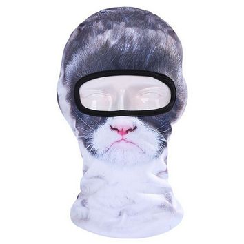 Black & White Cat Ski Mask