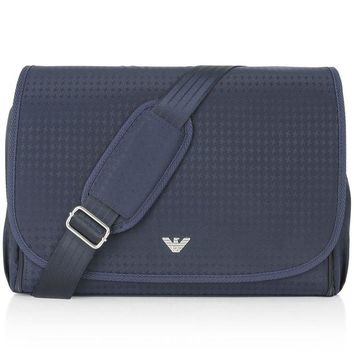 VONES0 Armani Baby Navy Blue Diaper Bag