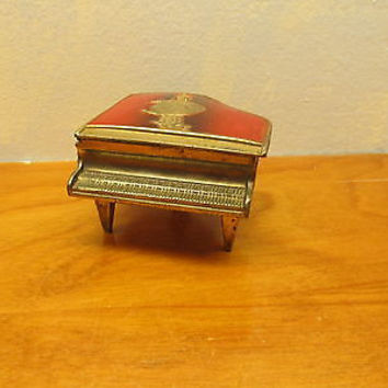 VINTAGE METAL PIANO RING HOLDER MADE IN OCCUPIED JAPAN