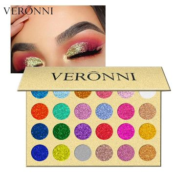 1PC Brand Shiny Eye Shadow Color Cosmetics Waterproof Shimmer Gold Silver Red 24 Glitter Makeup Eyeshadow Palette