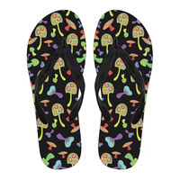Women's Colorful Mushroom Flip Flops