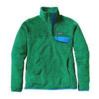 Patagonia Women's Re-Tool Snap-T® Fleece Pullover | Tumble Green - Malachite Green X-Dye