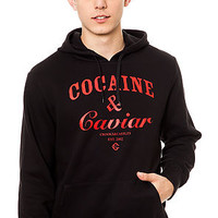 Crooks And Castles Hoodie Cocaine Caviar Pullover in Black