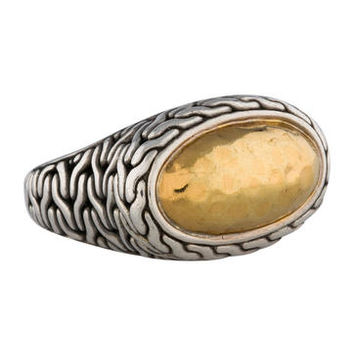 John Hardy Hammered Palu Oval Ring
