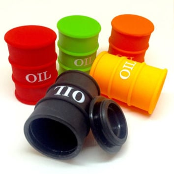 Oil Barrel Silicone Container (SML)
