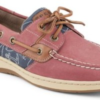 Sperry Top-Sider Bluefish Critter Print 2-Eye Boat Shoe WashedRed/WhalePrint, Size 6S  Women's Shoes
