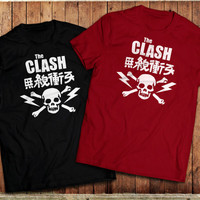 The Clash Japanese T-Shirt, Punk Rock, Inspired by Combat Rock album cover