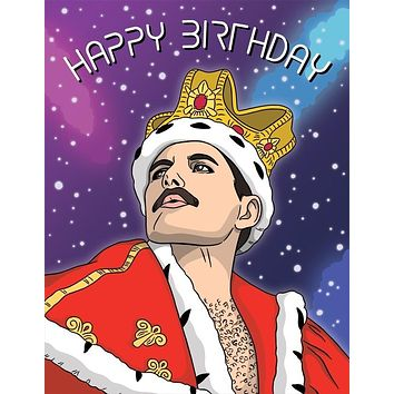 THE FOUND FREDDIE MERCURY BIRTHDAY CARD