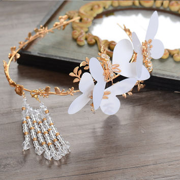 Vintage Accessory Butterfly Wedding Dress Prom Dress Hair Accessories Hairband [8779894092]