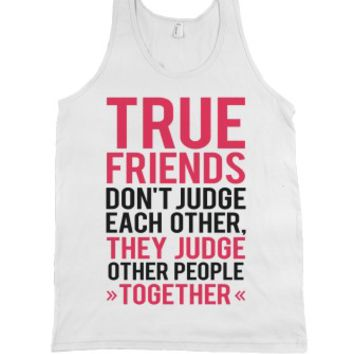 True Friends (Tank)-Unisex White Tank