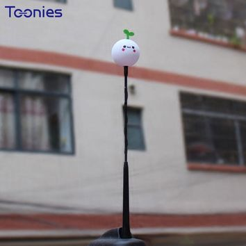 Smart Mini Automobile Antenna Decoration Clubman Jcw Face Types Car Styling Topper Ornaments Adorable Cartoon Doll Antenna Balls