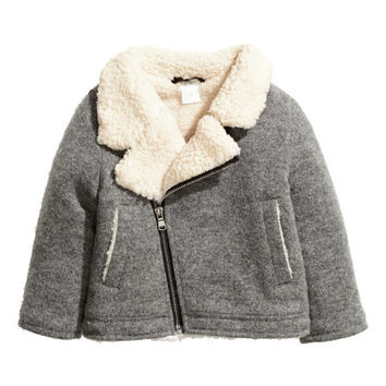 Wool-blend Biker Jacket - from H&M