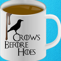 Crows Before Hoes Mug Cup Game of Thrones Nights Watch Personalise Gift amazing mug gift mug heppy coffee.