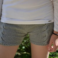 Cable knit shorts Made to order FREE SHIPPING