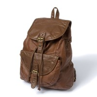 Mesa Faux Leather Backpack  | Icing
