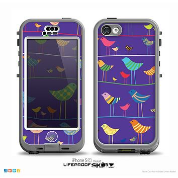 The Abstract Pattern-Filled Birds Skin for the iPhone 5c nüüd LifeProof Case