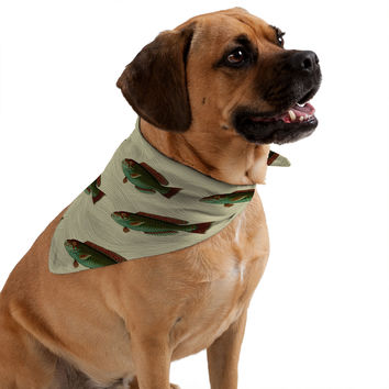 Natt Green FIsh Pet Bandana