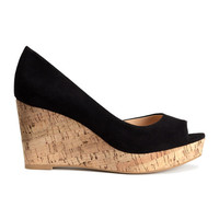 Wedge-heeled Sandals - from H&M