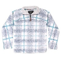 Frosty Tipped Taos Pile 1/4 Zip Pullover in Navy by True Grit - FINAL SALE