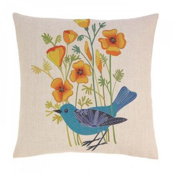 Blue Bird Decorative Pillow
